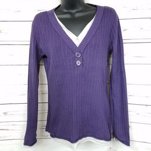 Liz Claiborne Layered Purple Sweater